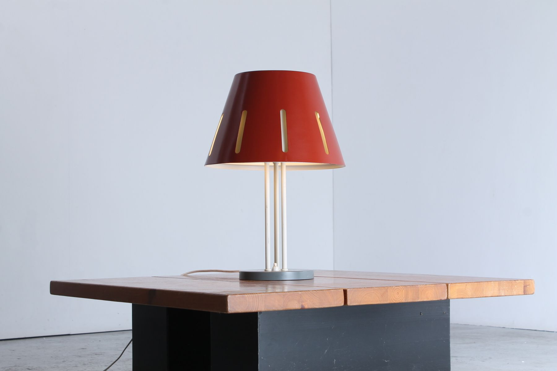 Large sun series red table lamp by h th j a busquet for hala price per piece geotapseo Gallery