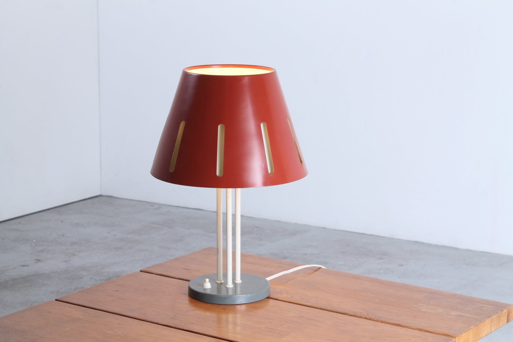 Large sun series red table lamp by h th j a busquet for hala large sun series red table lamp by h th j a busquet for hala geotapseo Gallery