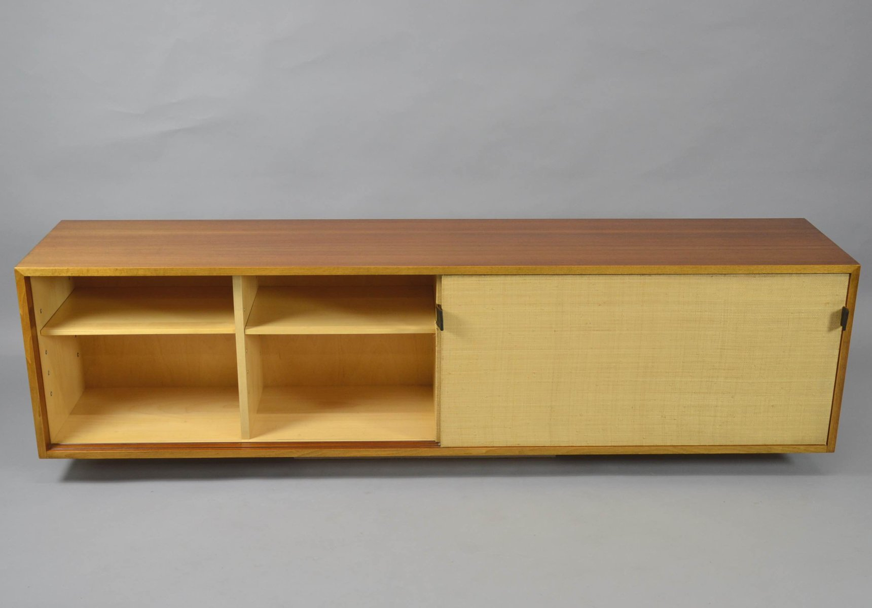 Vintage Hanging Cabinet With Sliding Doors By Florence Knoll For Knoll