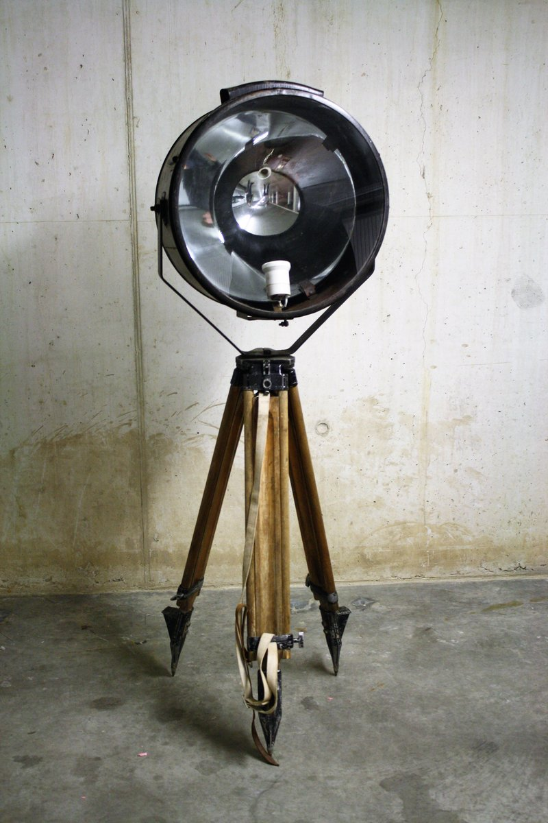 Large industrial floor lamp 1950s for sale at pamono for Tribeca large floor lamp