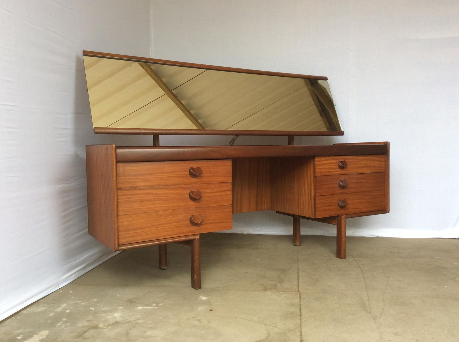 Teak and afromosia dressing table from white newton for White dressing table for sale