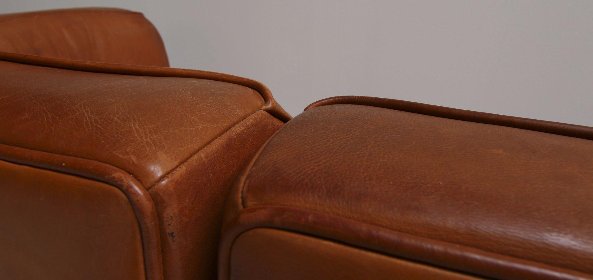 Vintage ds15 saddle leather sofa in cognac color from de - Sofas de colores ...
