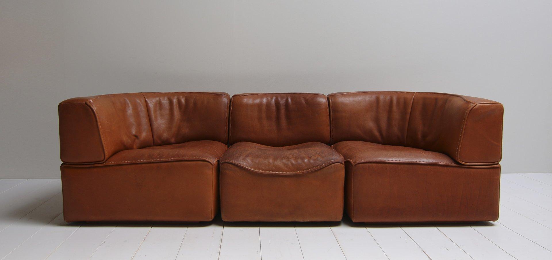vintage ds15 sattelleder sofa in cognacfarbe von de sede bei pamono kaufen. Black Bedroom Furniture Sets. Home Design Ideas