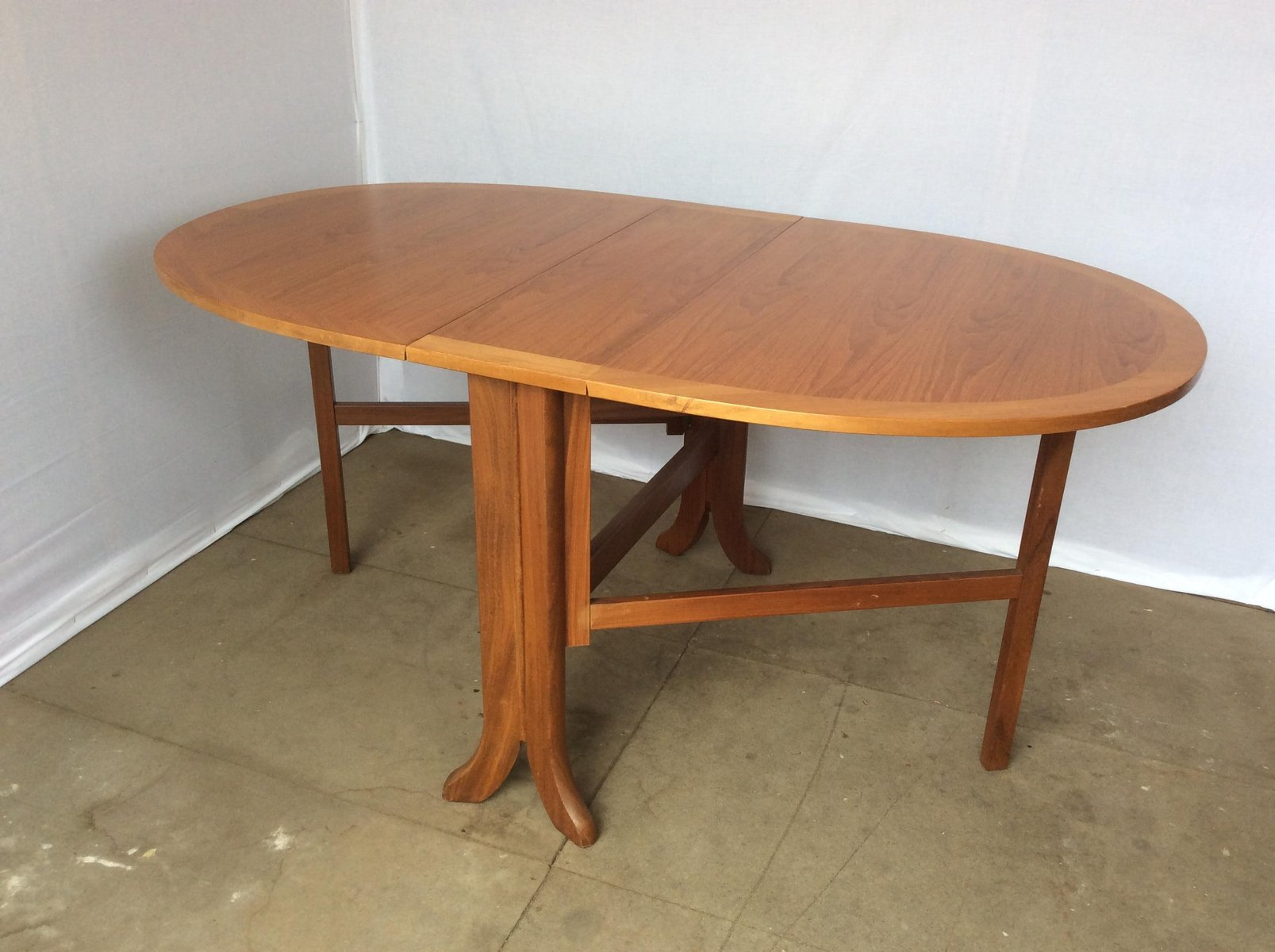 fold up dining tables. mid-century oval fold up teak dining table from nathan tables
