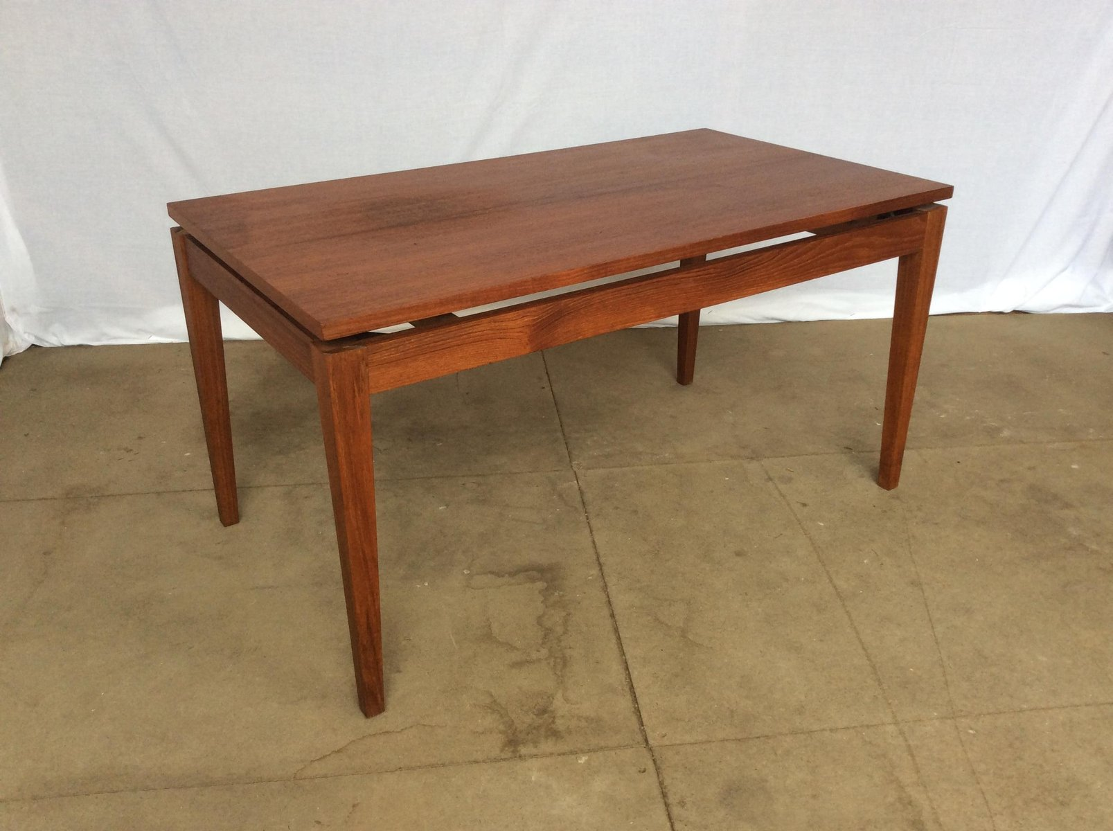 Teak floating top coffee table 1970s for sale at pamono teak floating top coffee table 1970s geotapseo Gallery