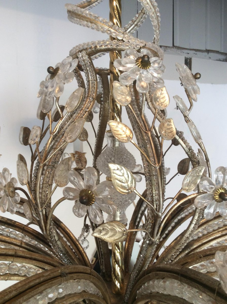 Leaf chandelier from maison bagues 1950s for sale at pamono leaf chandelier from maison bagues 1950s arubaitofo Images