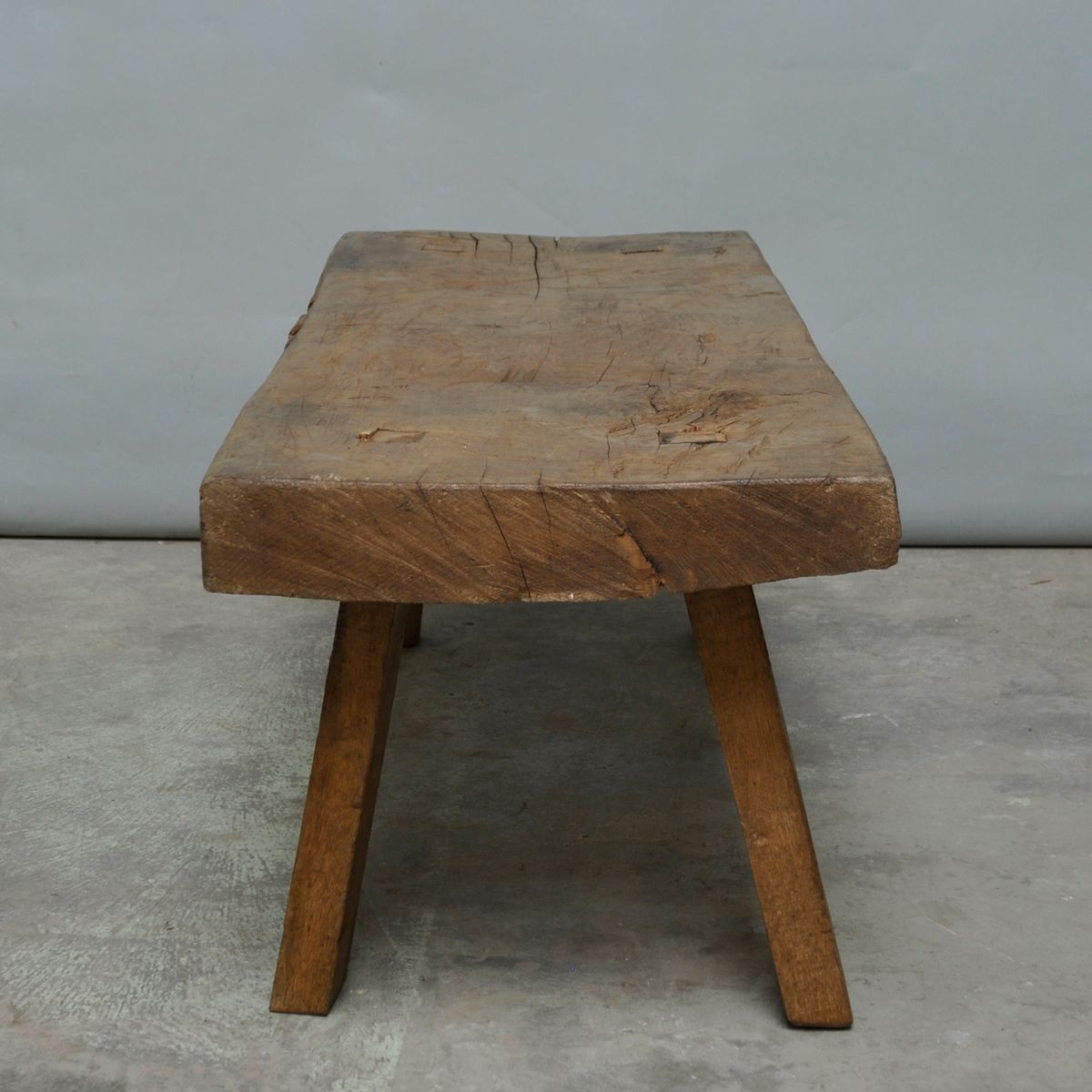 vintage hungarian oak butcher s block coffee table for
