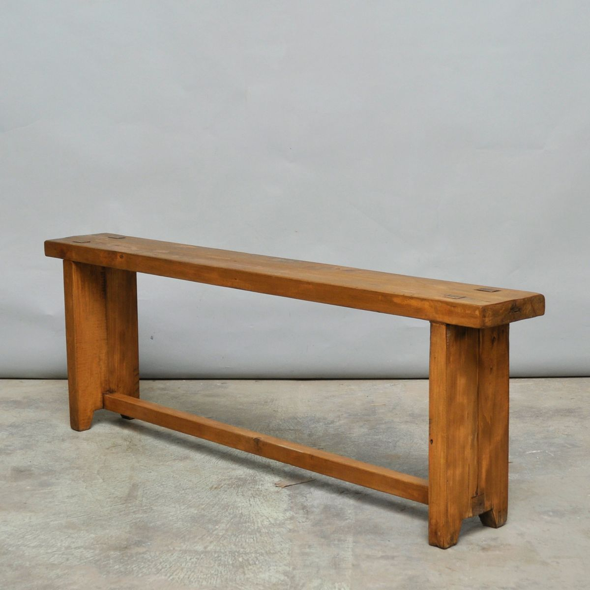 small vintage pine benches set of 2
