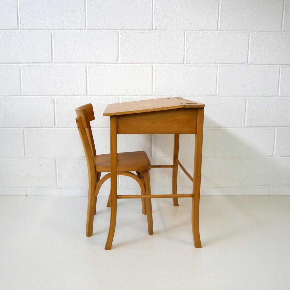 vintage kinder schreibtisch mit stuhl aus holz bei pamono kaufen. Black Bedroom Furniture Sets. Home Design Ideas