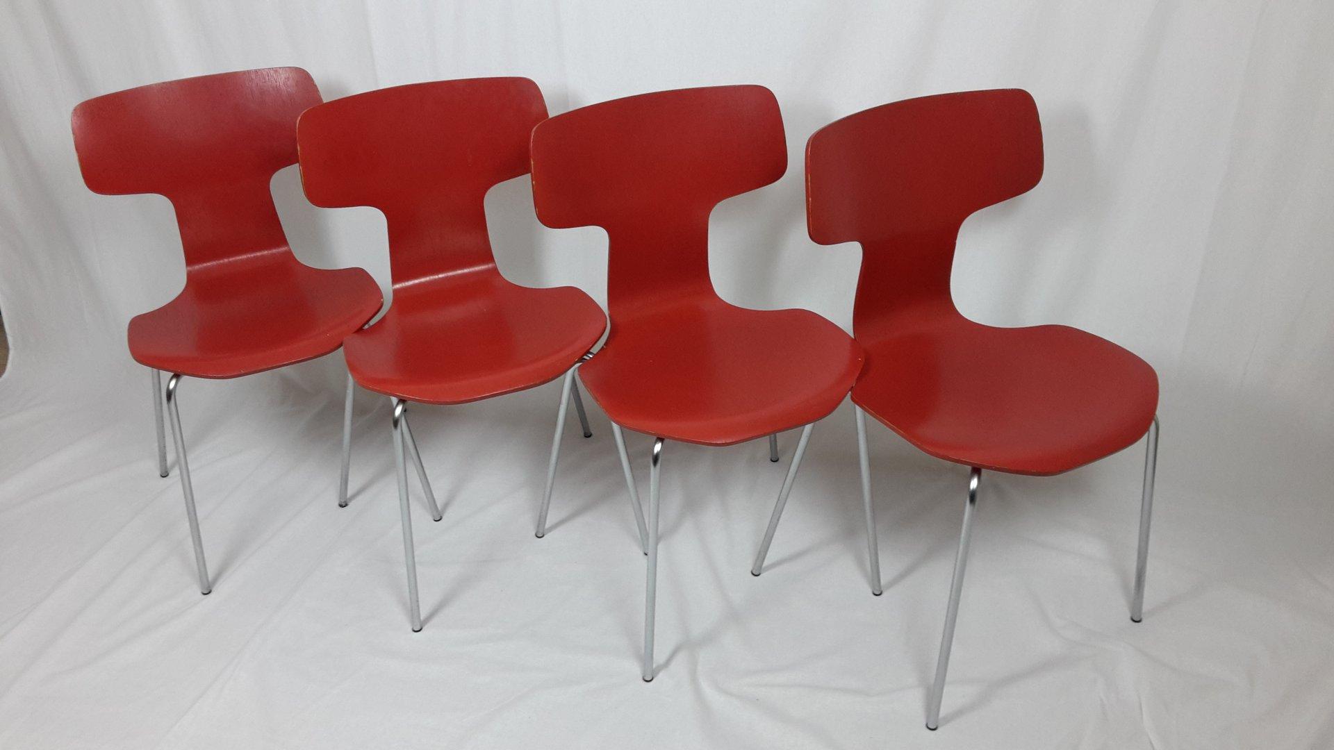 Jacobsen Stühle modell 3103 stühle arne jacobsen für fritz hansen 1960er 4er set bei pamono kaufen