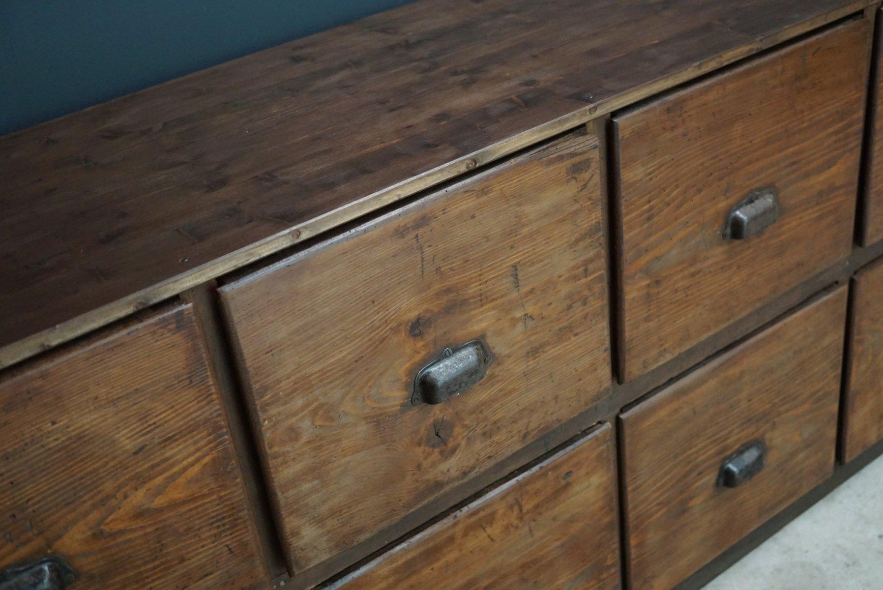 Grand meuble d apothicaire en pin france 1950s en vente - Meuble d apothicaire ...