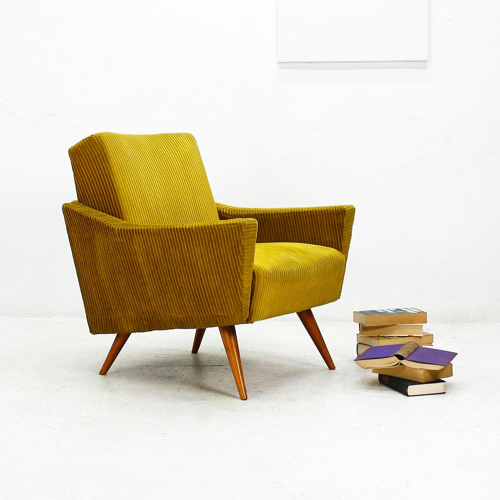 Mustard Yellow Club Chair 1950s For Sale At Pamono