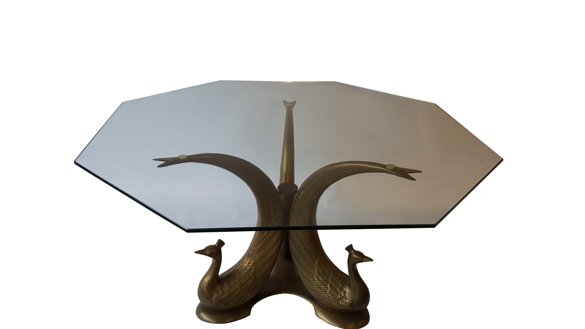 hollywood regency peacock coffee table for sale at pamono