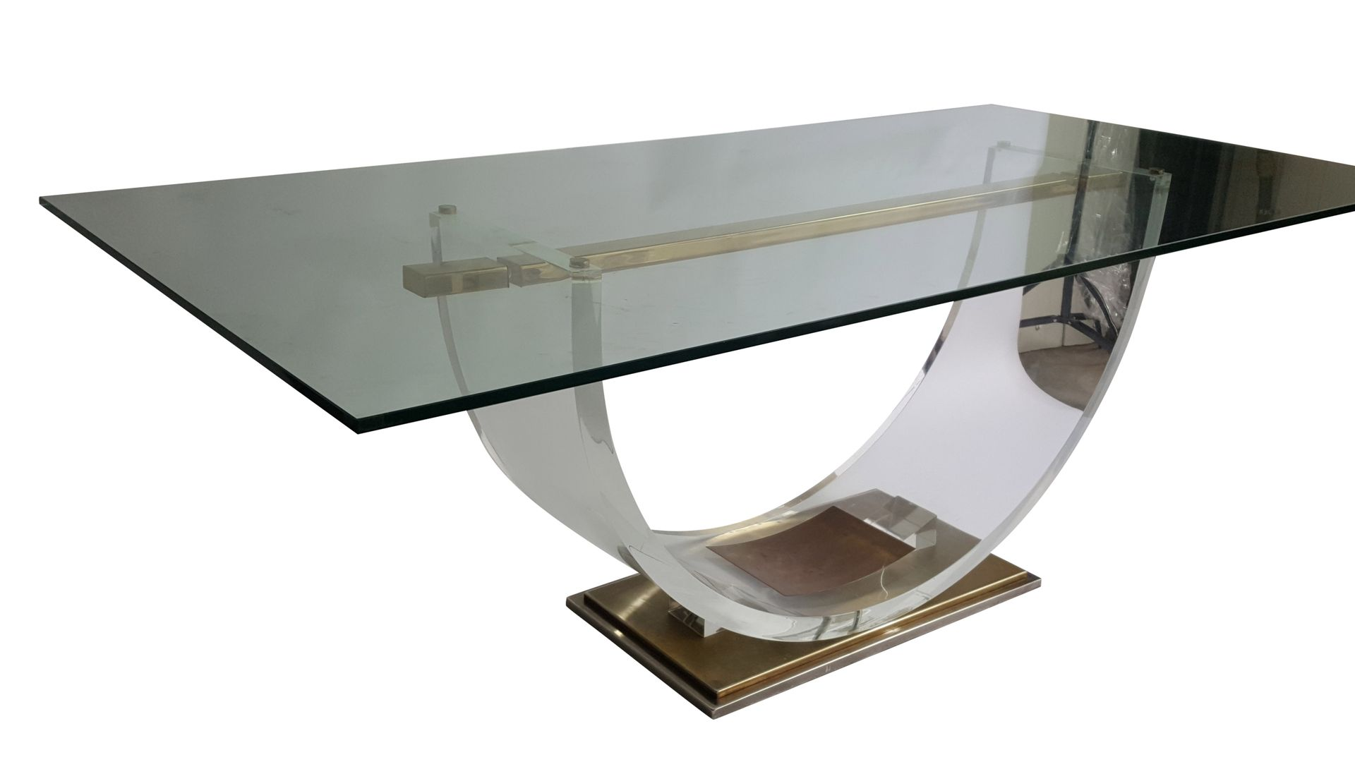 vintage lucite dining table by hollis jones for belgochrom 1970s
