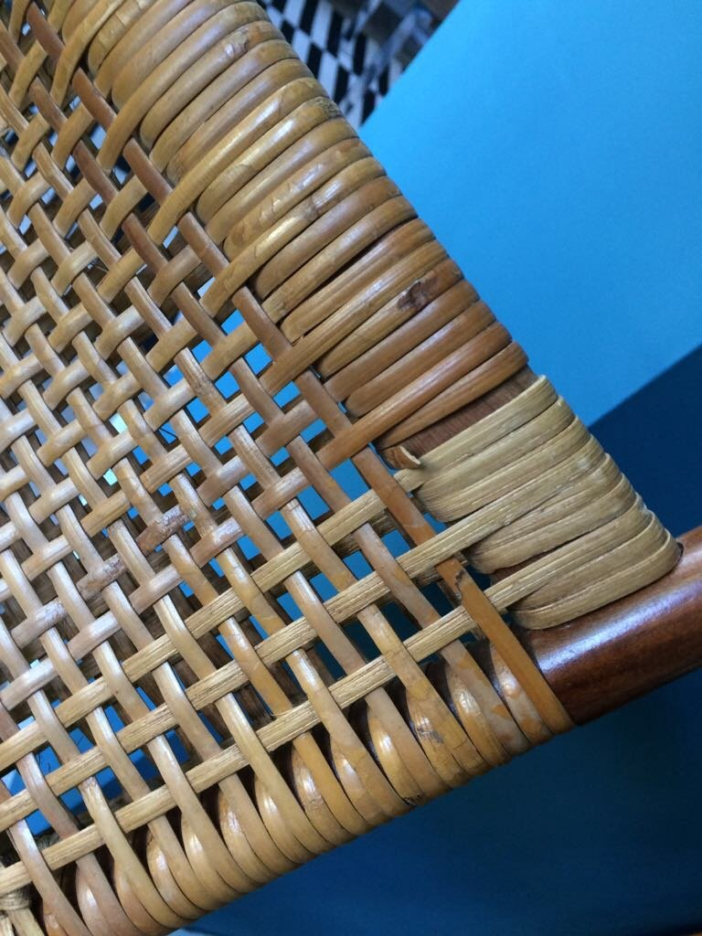 Mid Century Teak Amp Basketwork Chairs Set Of 5 For Sale At