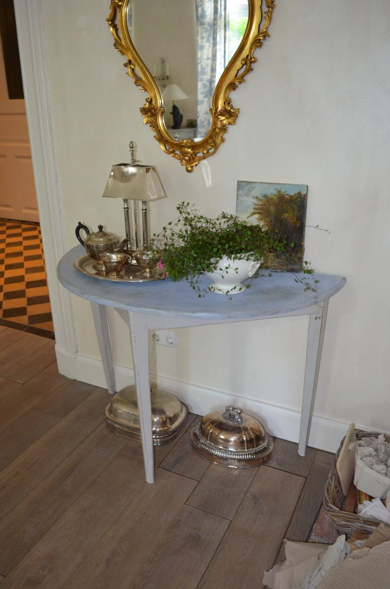18th century swedish demi lune table for sale at pamono - Table cuisine demi lune ...