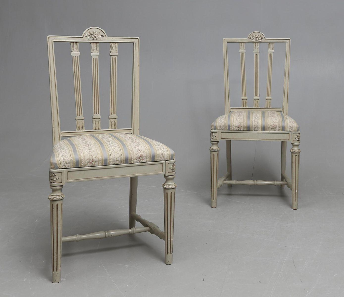 gustavianische st hle 2er set bei pamono kaufen. Black Bedroom Furniture Sets. Home Design Ideas