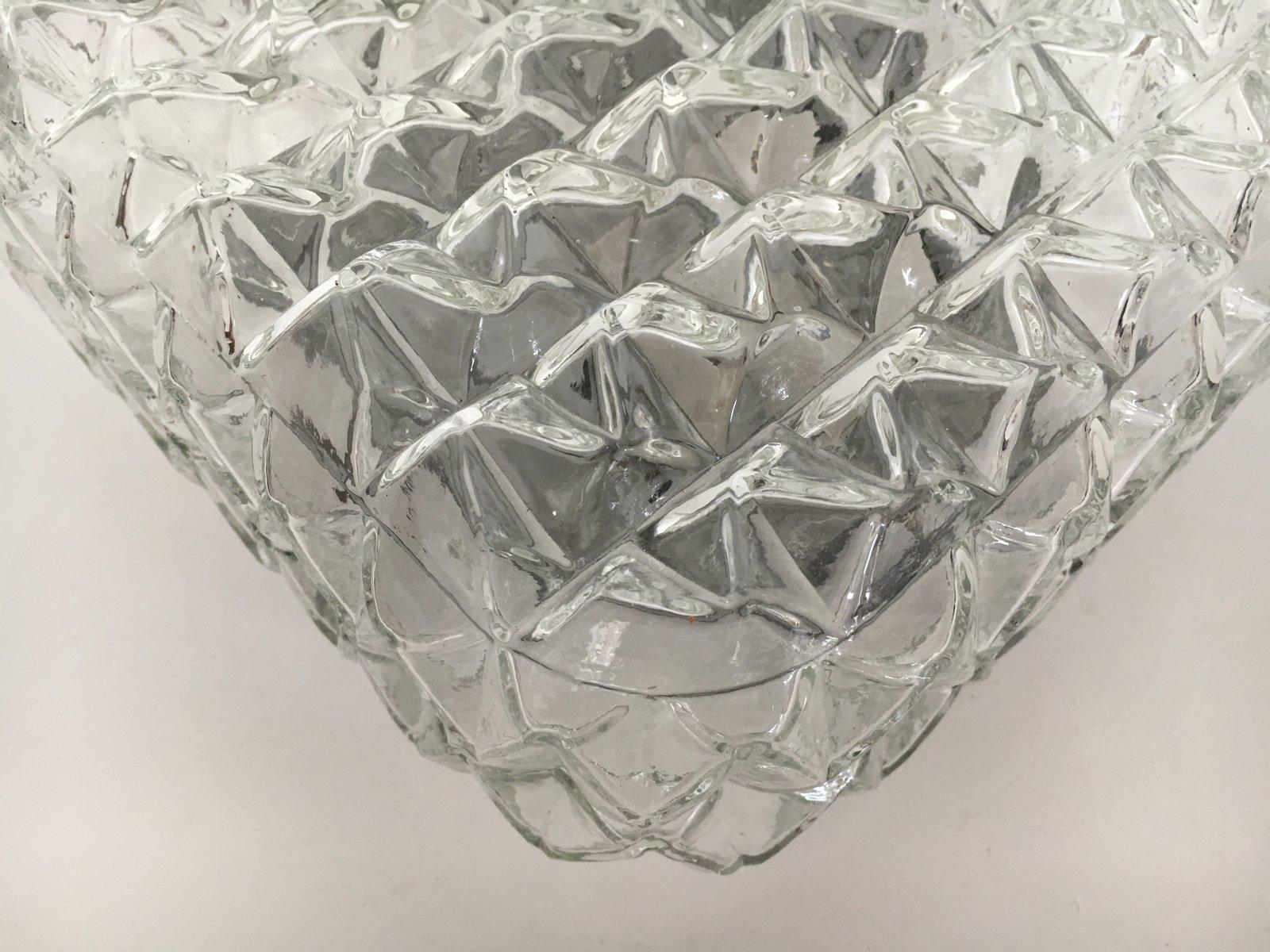 quadratische vintage glas wandleuchte 1960er bei pamono. Black Bedroom Furniture Sets. Home Design Ideas