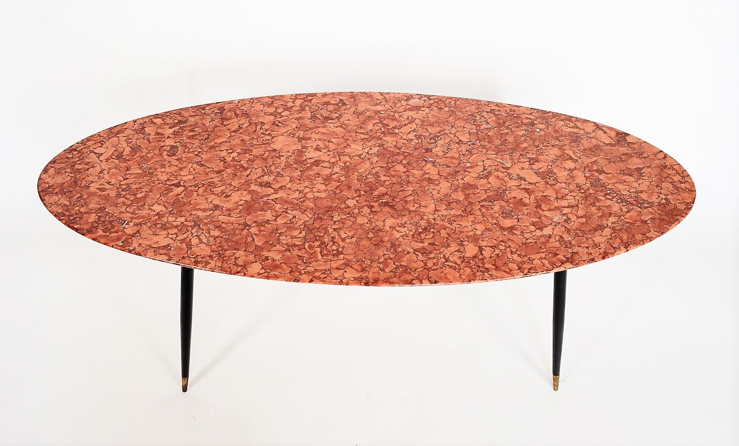 Italian Red Marble Coffee Table 1950s for sale at Pamono
