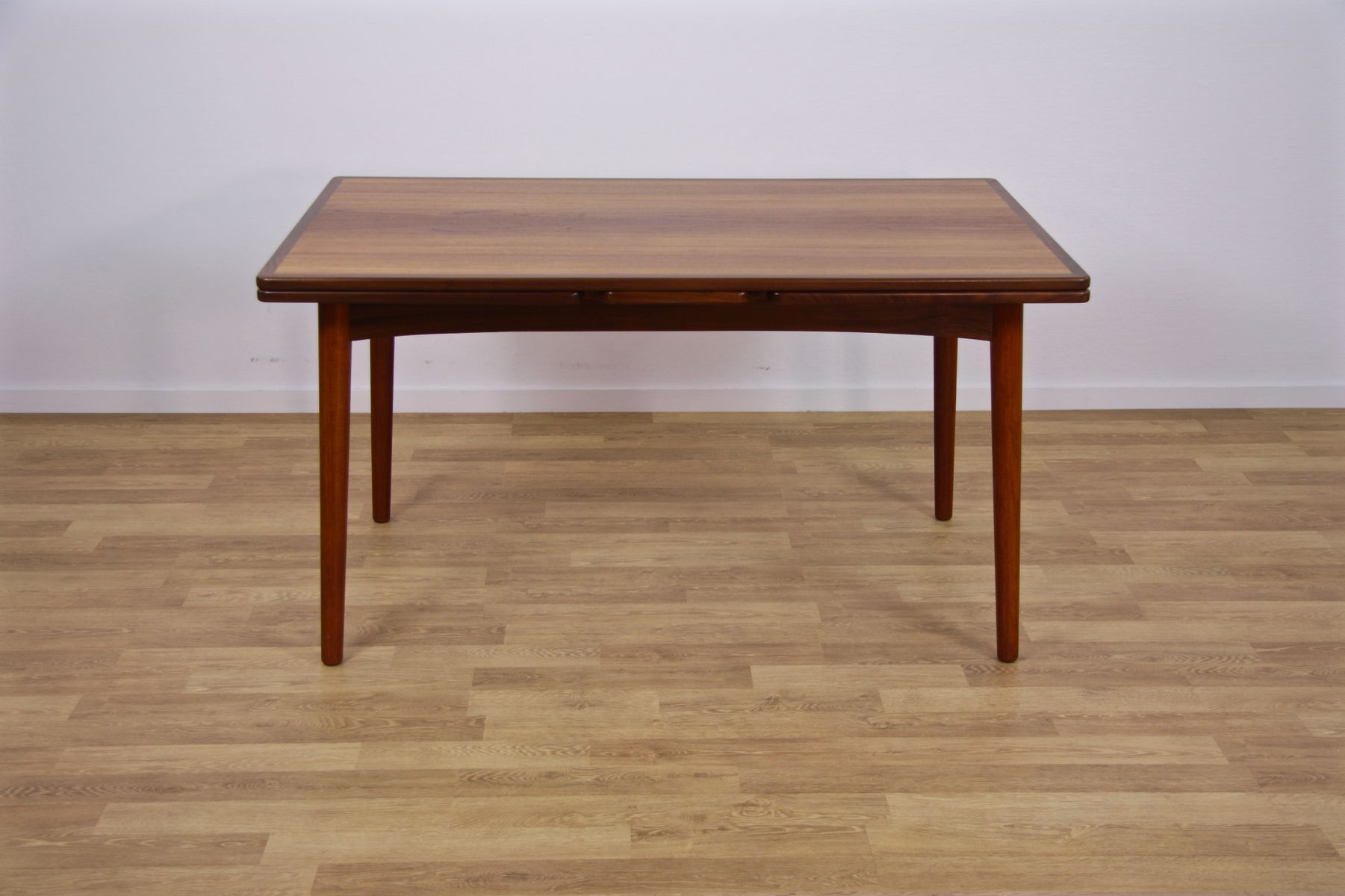 midcentury danish extendable dining table in teak s for sale  - price per piece