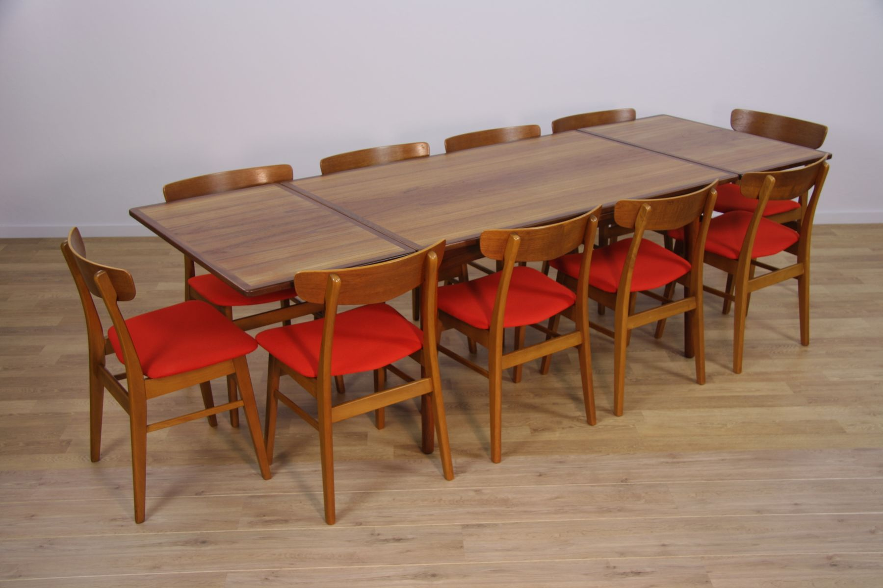 midcentury danish extendable dining table in teak s for sale  - midcentury danish extendable dining table in teak s