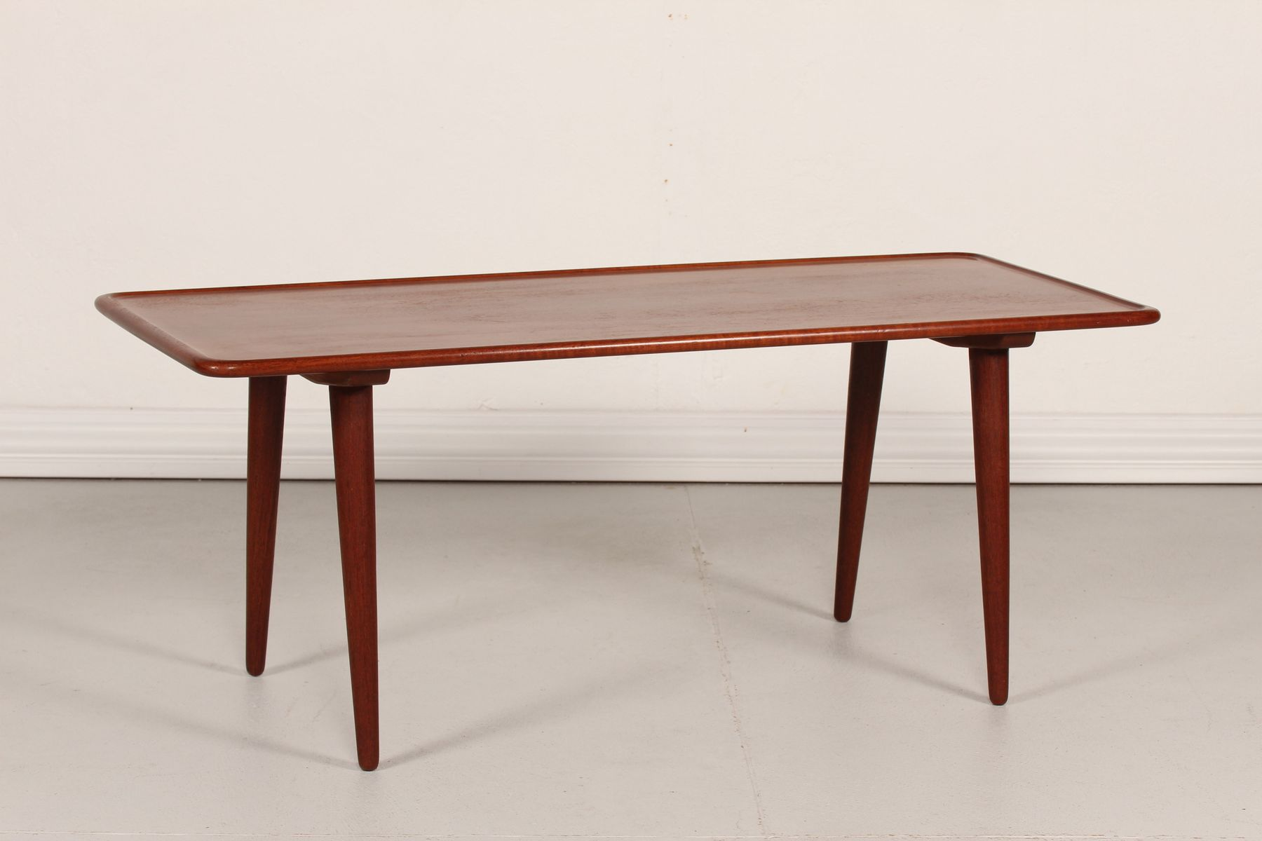 Danish At 11 Teak Coffee Table By Hans J Wegner For Andreas Tuck 1950s For Sale At Pamono