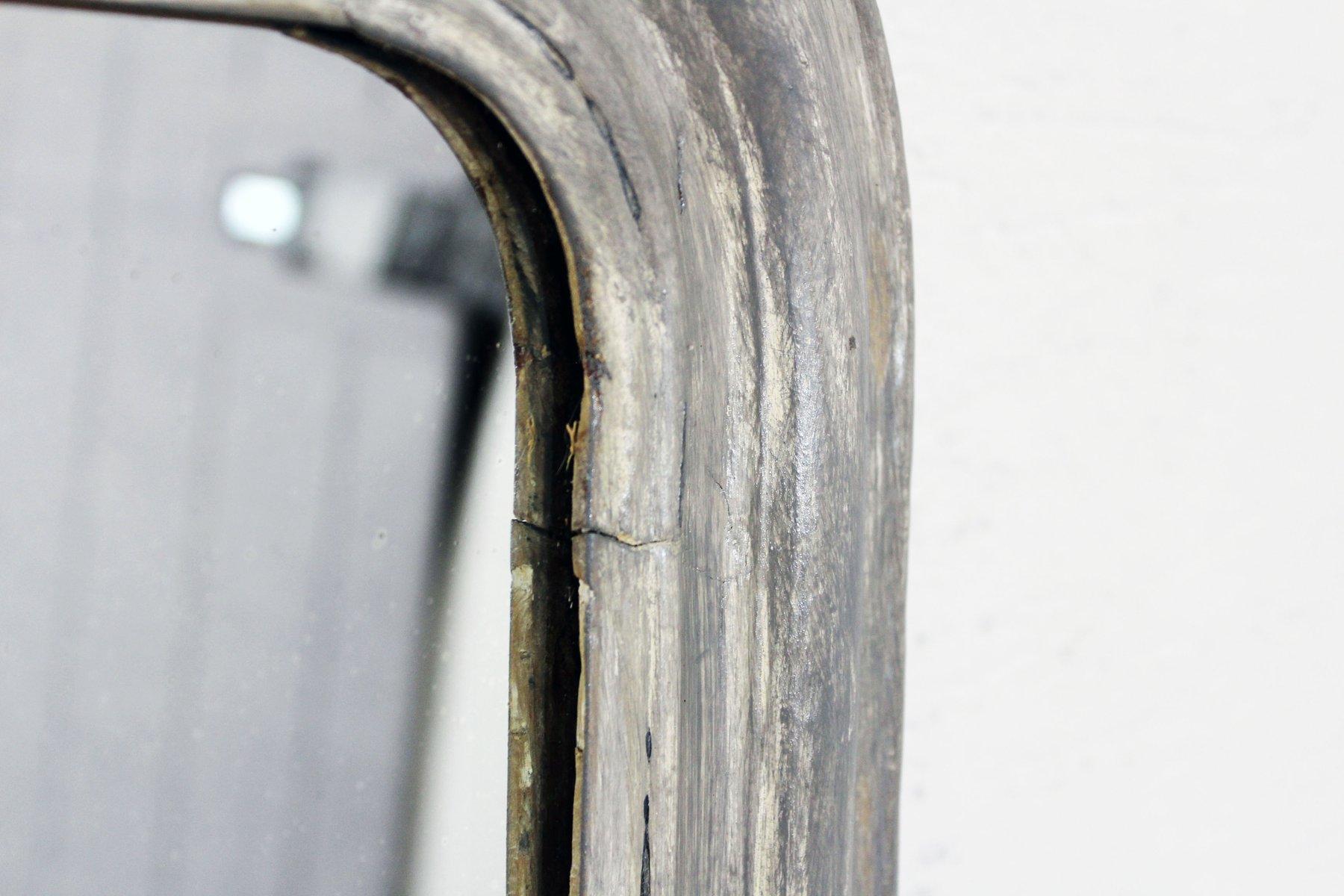 bemalter vintage spiegel aus holz bei pamono kaufen. Black Bedroom Furniture Sets. Home Design Ideas