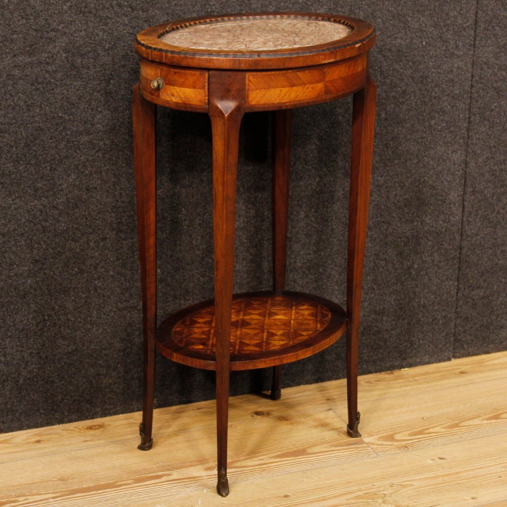 Antique Inlaid Marble Table : Antique french inlay table for sale at pamono