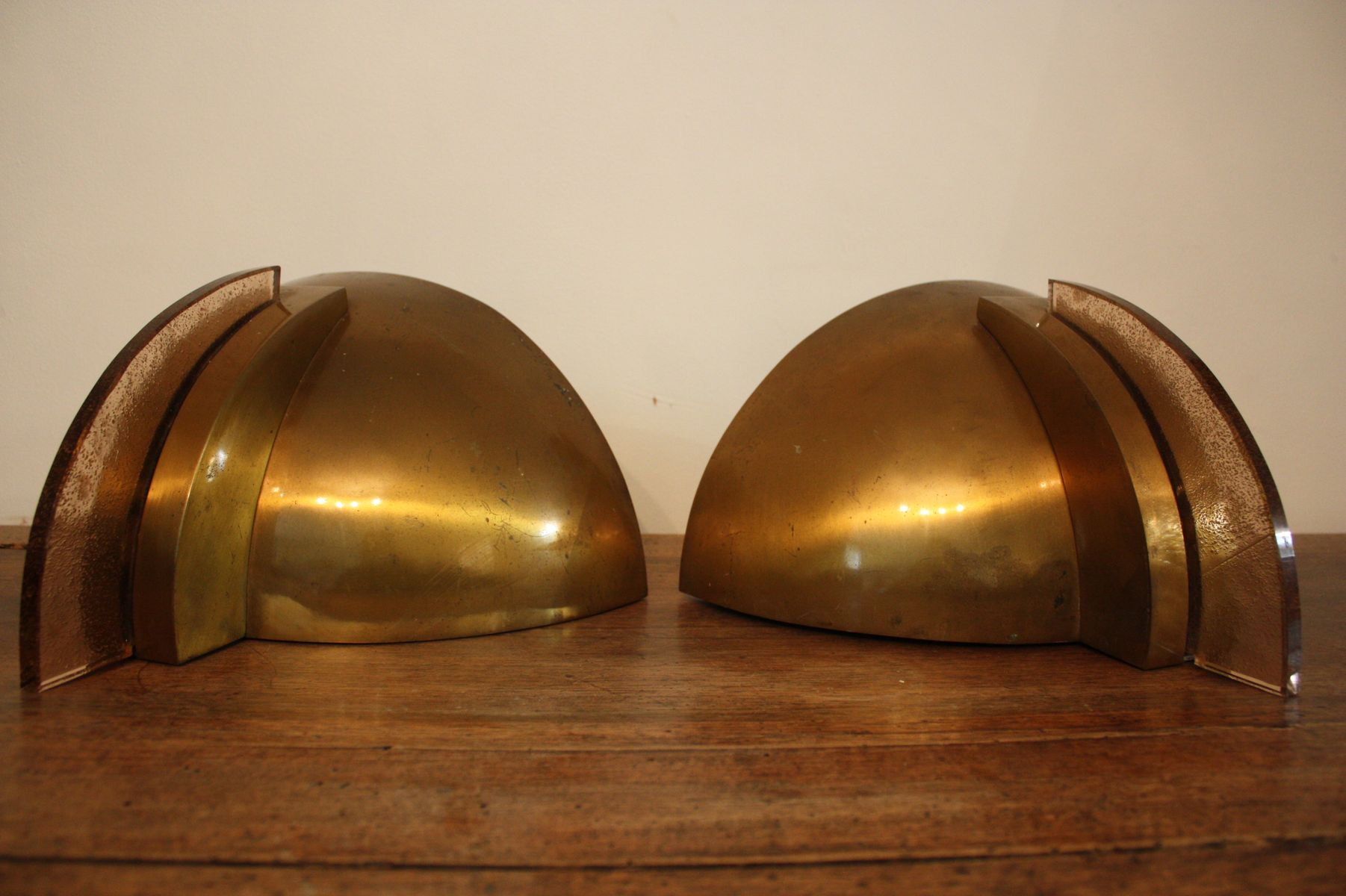 Large Art Deco Wall Lights, 1930s, Set of 2 for sale at Pamono