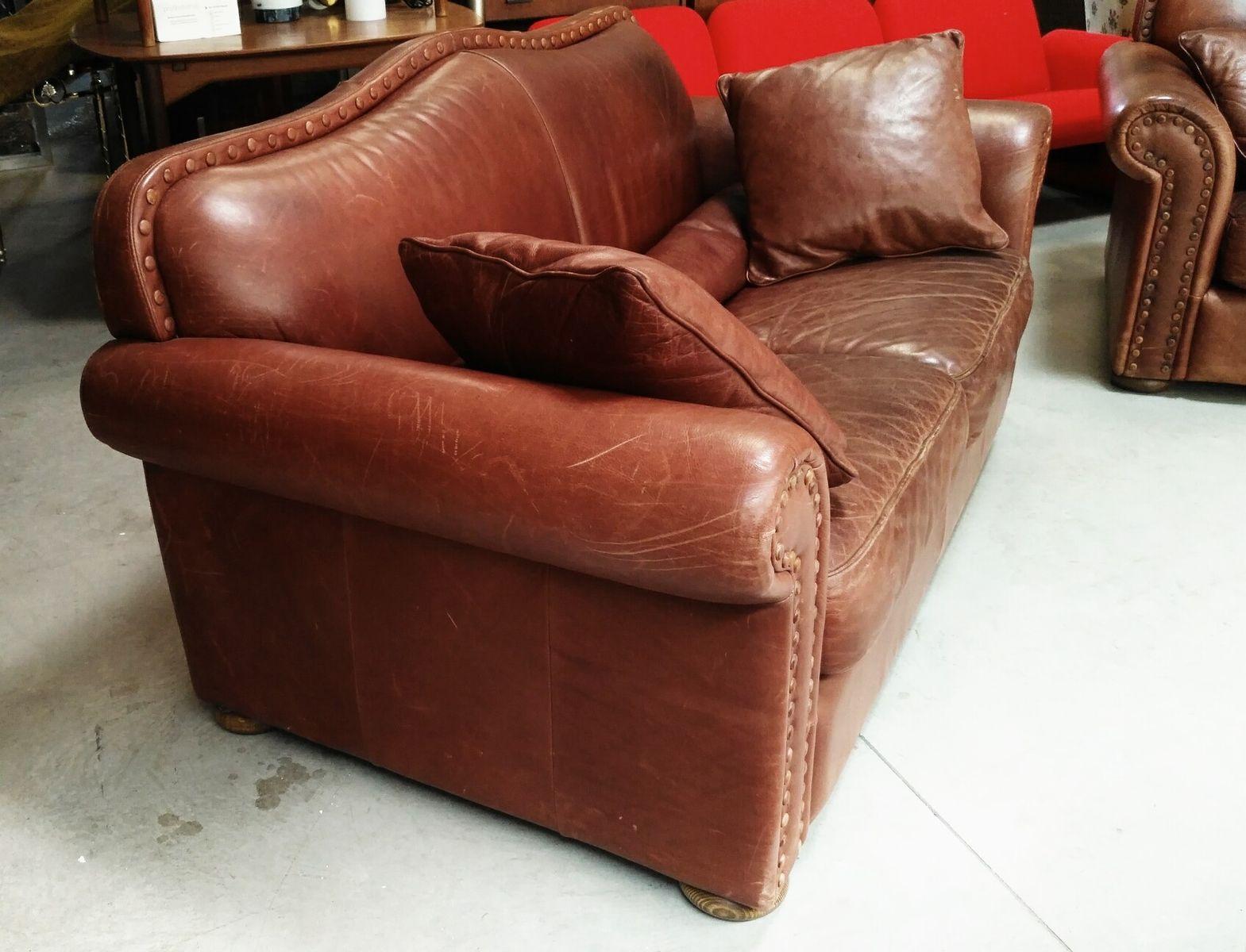 Italian leather sofa 1970s for sale at pamono for Italian leather sofa