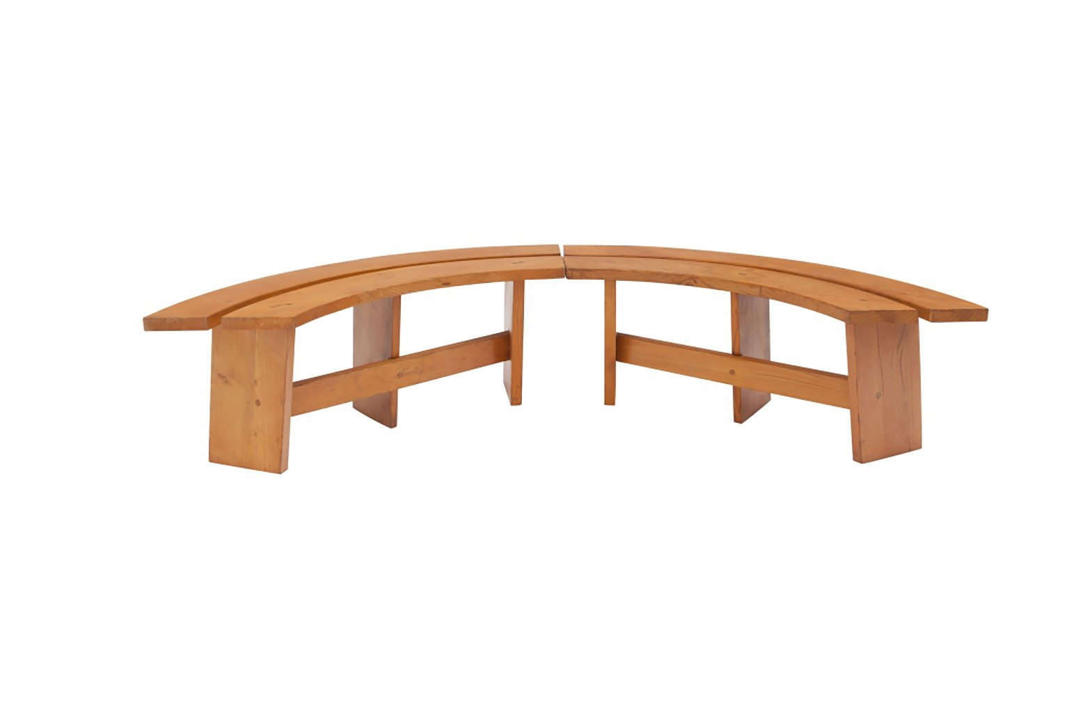 Curved Benches By Pierre Chapo 1960s Set Of 4 For Sale At Pamono