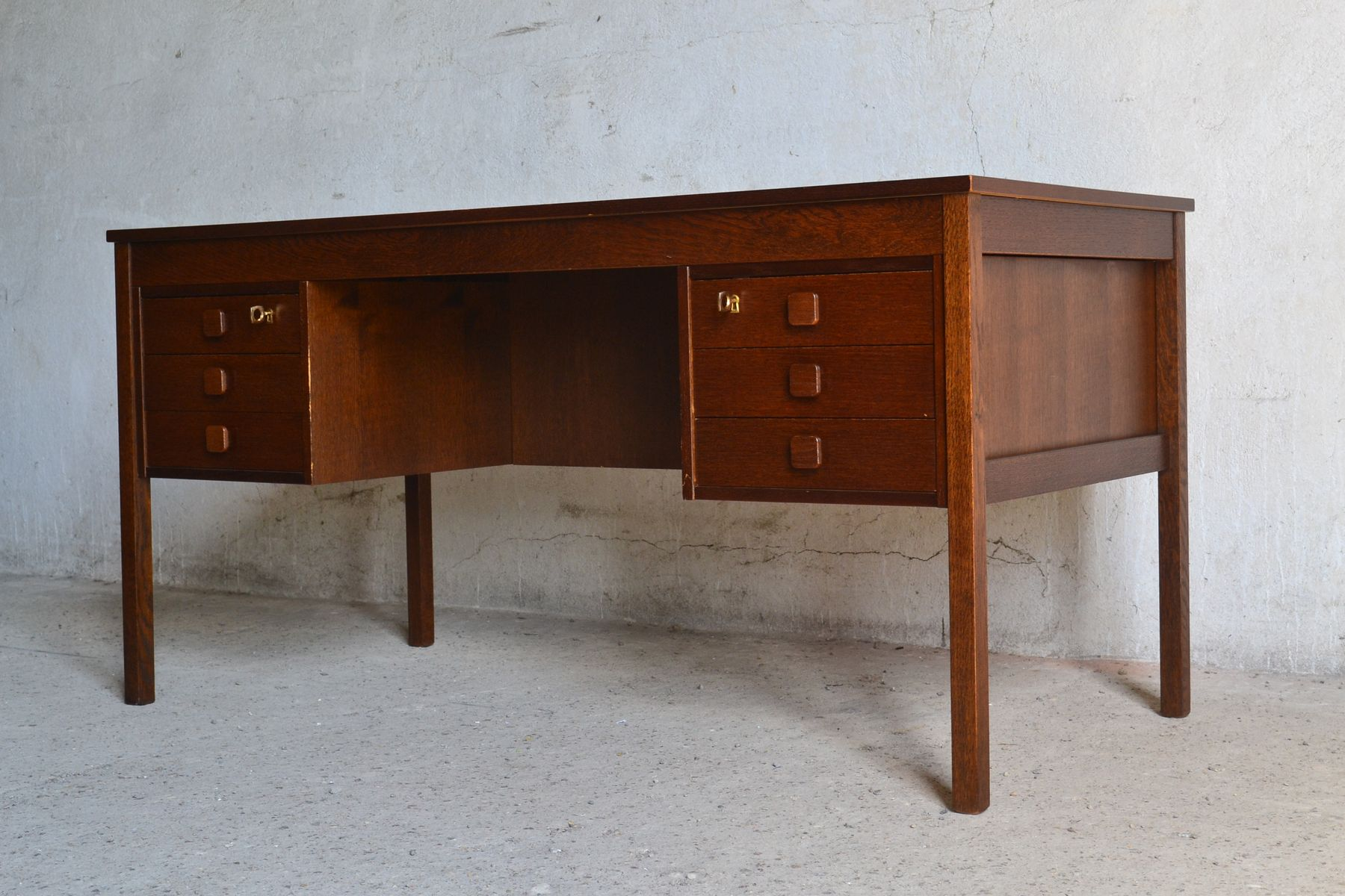 Danish Double Sided Desk 1960s for sale at Pamono