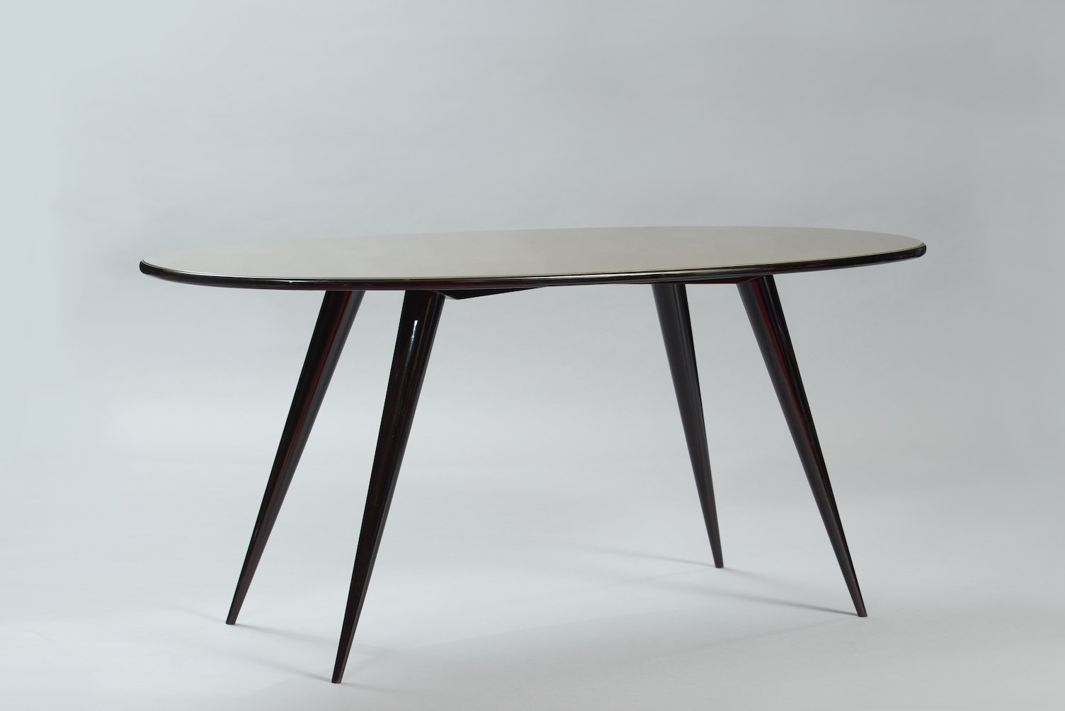 midcentury oval italian dining table for sale at pamono - midcentury oval italian dining table