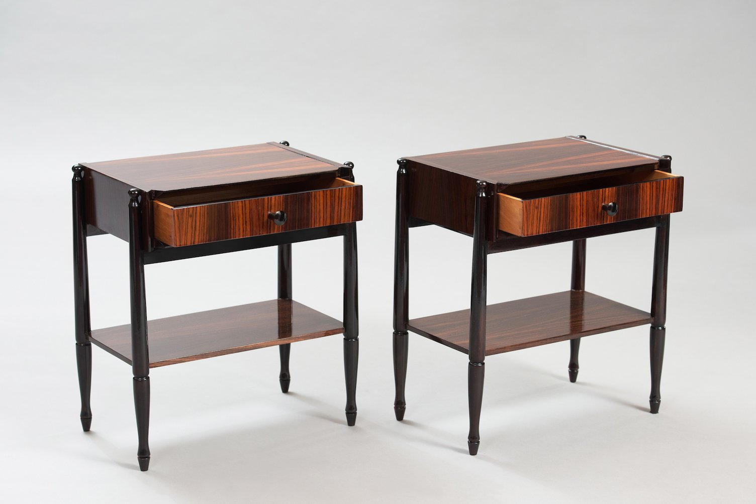 mid century italian rosewood nightstands set of 2 for sale at pamono. Black Bedroom Furniture Sets. Home Design Ideas
