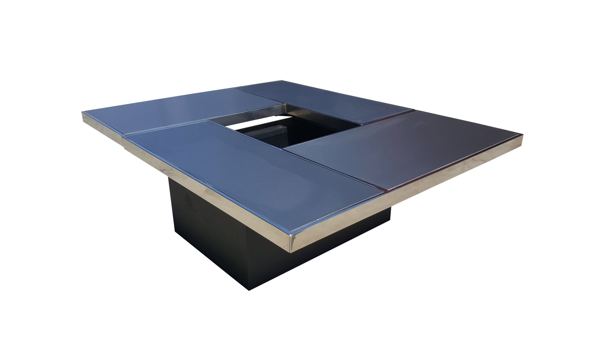 Sliding Coffee Table with Hidden Bar from Belgo Chrom 1975 for