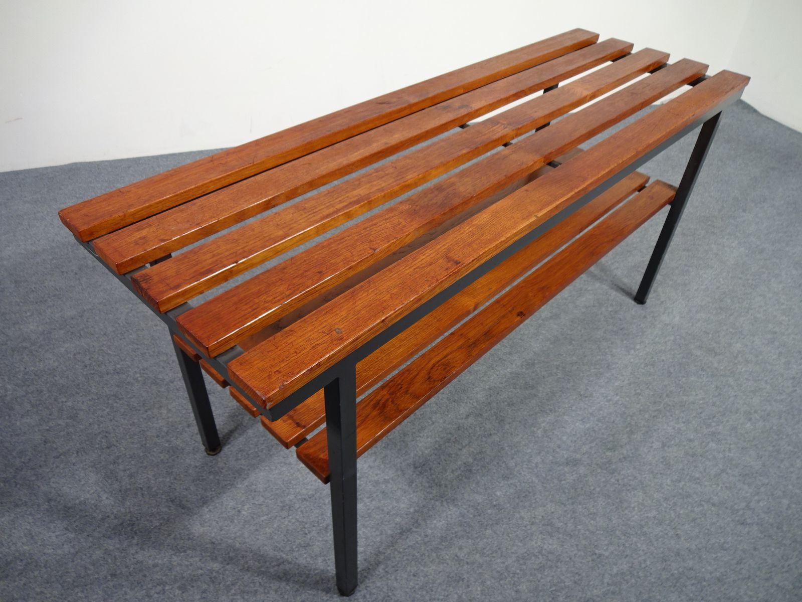 Teak Tubular Steel Bench 1940s For Sale At Pamono
