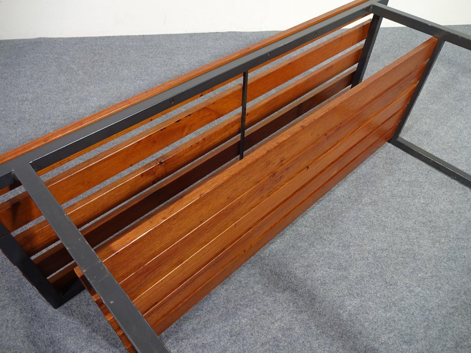 banc en teck et acier tubulaire 1940s en vente sur pamono. Black Bedroom Furniture Sets. Home Design Ideas