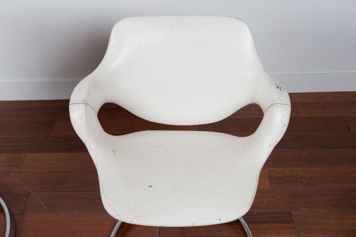 fauteuils vintage par boris tabacoff pour mobilier modulaire moderne france 1970s set de4 en. Black Bedroom Furniture Sets. Home Design Ideas
