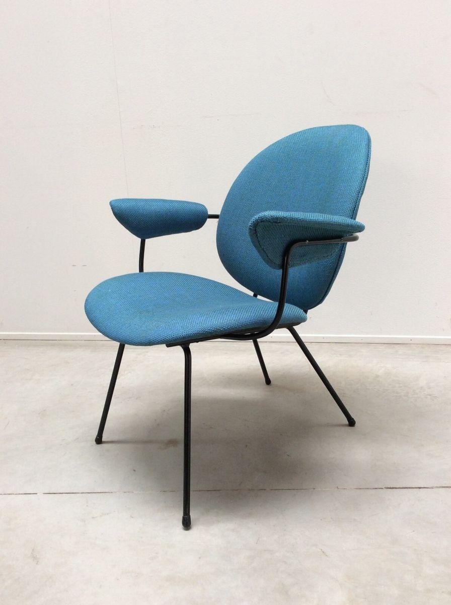 chaises mid century bleues par willem gispen pour kembo. Black Bedroom Furniture Sets. Home Design Ideas