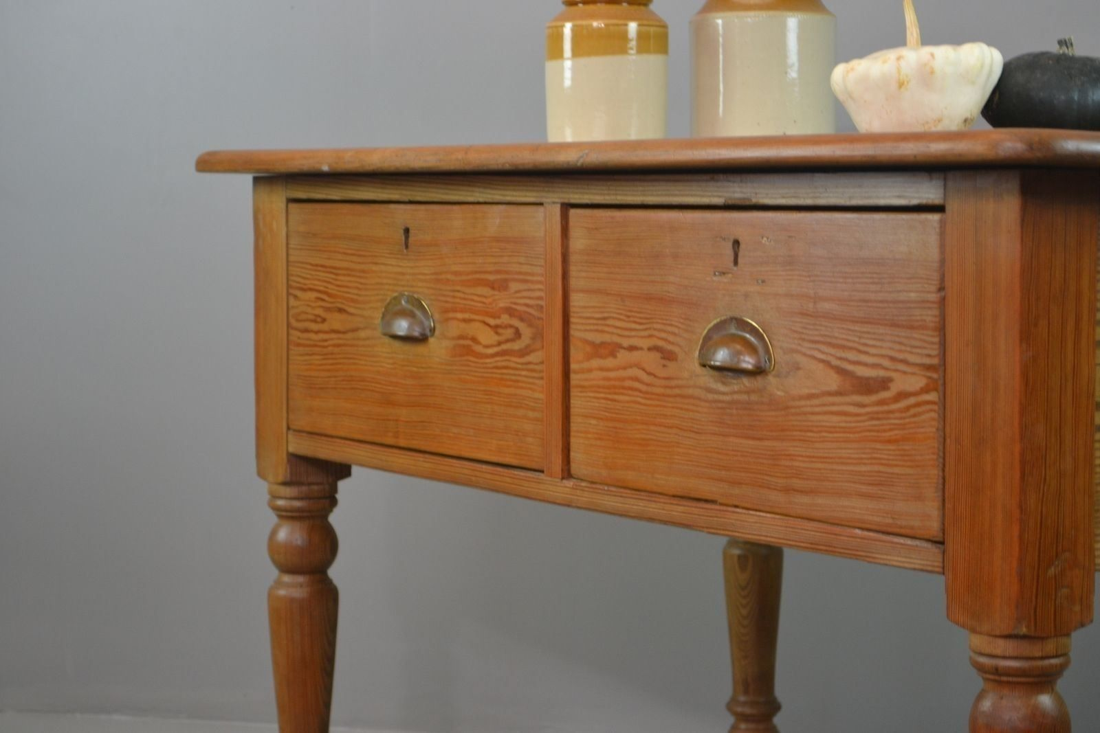 Antique rustic pine kitchen table for sale at pamono - Rustic kitchen tables for sale ...