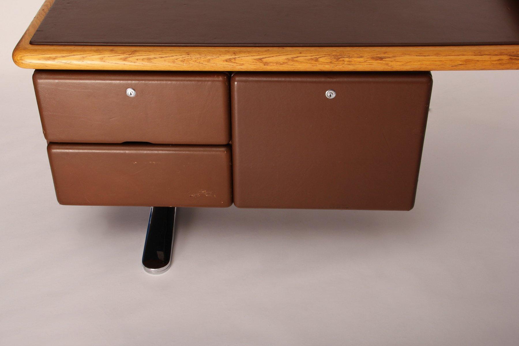 vintage executive desk by warren platner for knoll for. Black Bedroom Furniture Sets. Home Design Ideas