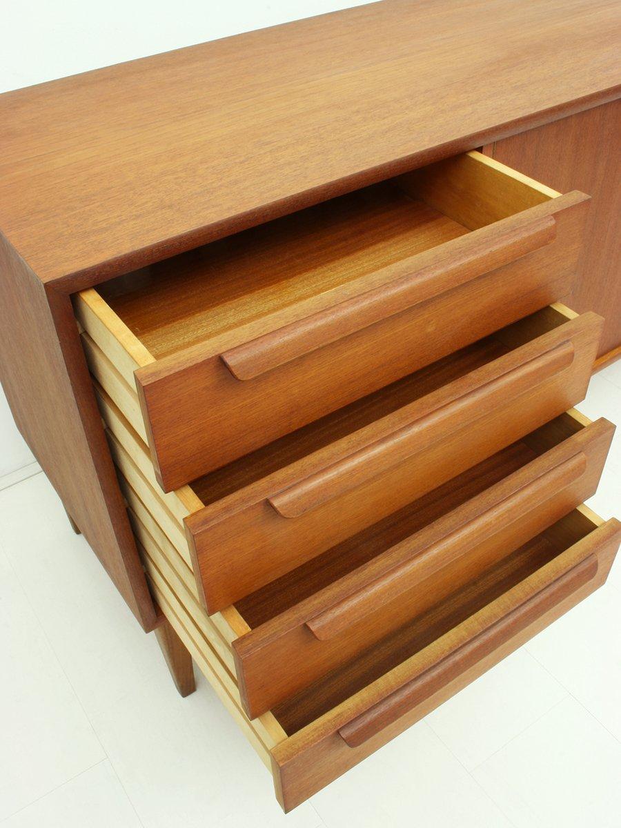 deutsches sideboard aus teak furnier von wk m bel 1960er. Black Bedroom Furniture Sets. Home Design Ideas
