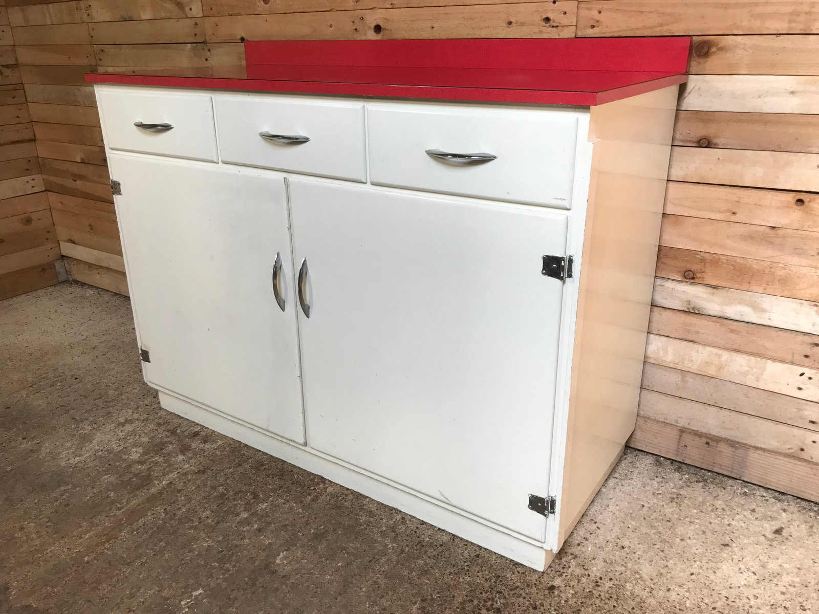 Kitchen Cabinet Manufacturers List Kitchen Cabinet With Red Melamine Top 1950s For Sale At