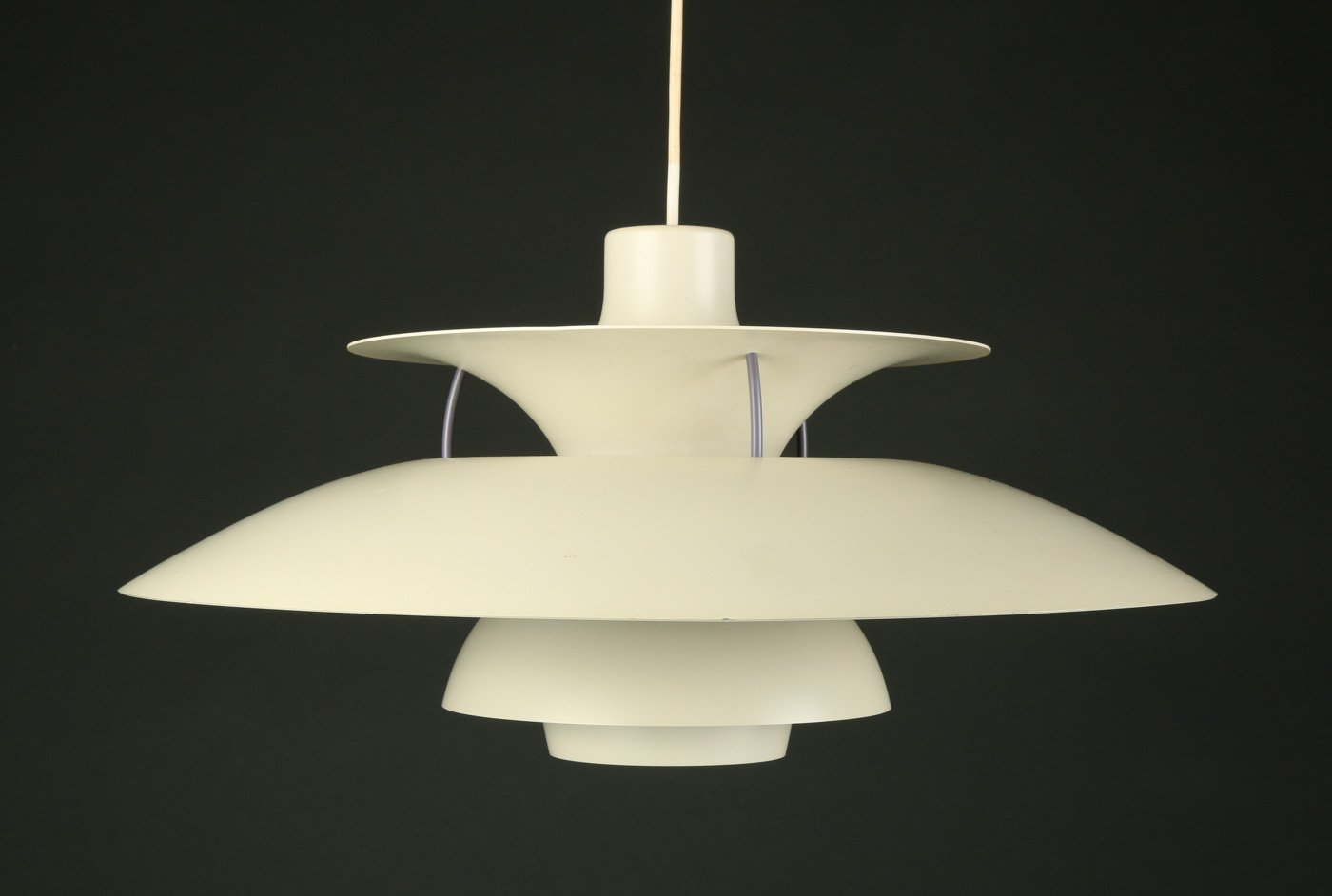 Vintage ph5 suspension lamp by poul henningsen for louis for Suspension 4 lampes