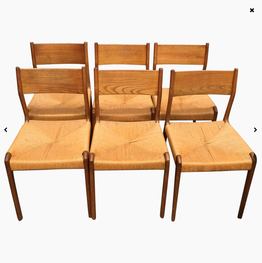 Dutch solid teak chairs 1960s set of 6 for sale at pamono for Dutch design chair uk