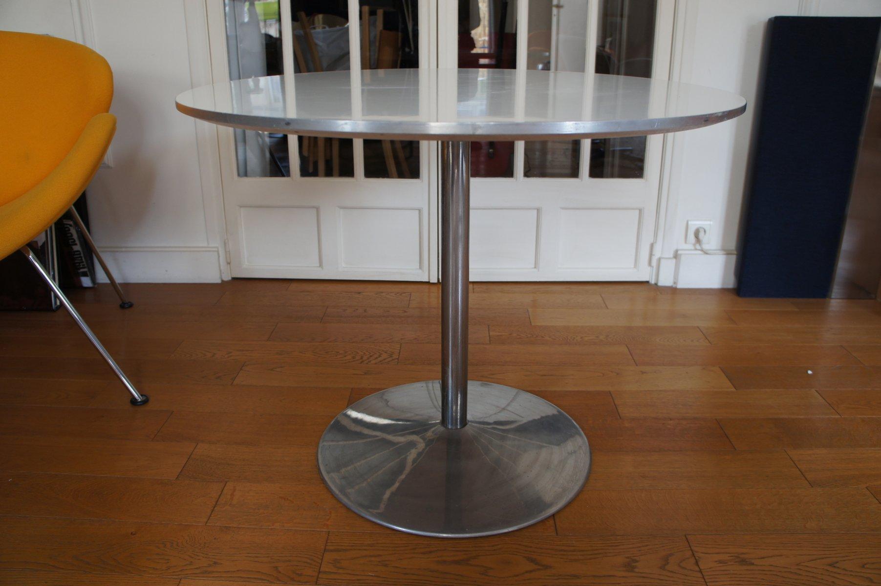wei er vintage tisch von verner panton f r fritz hansen. Black Bedroom Furniture Sets. Home Design Ideas