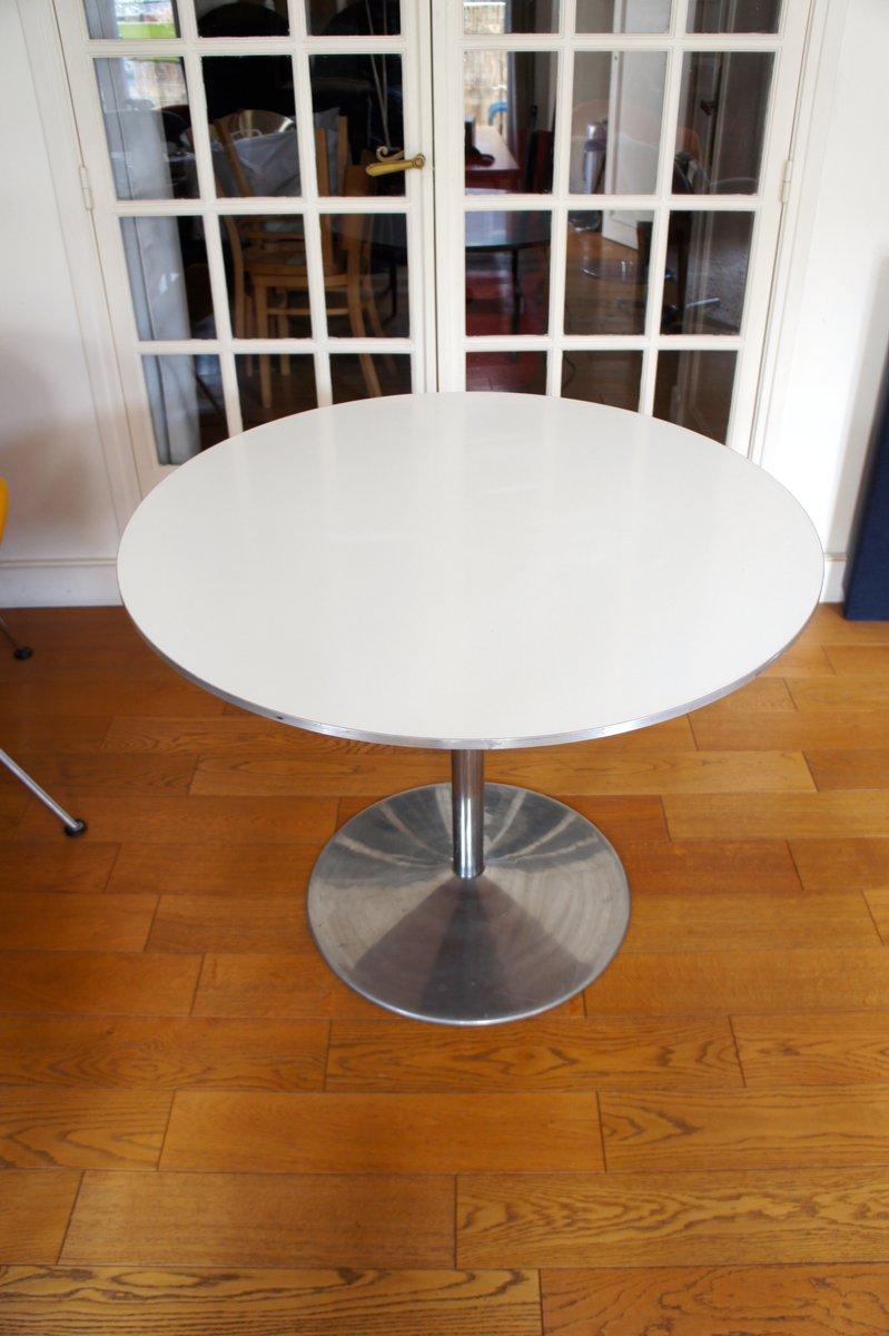 wei er vintage tisch von verner panton f r fritz hansen bei pamono kaufen. Black Bedroom Furniture Sets. Home Design Ideas