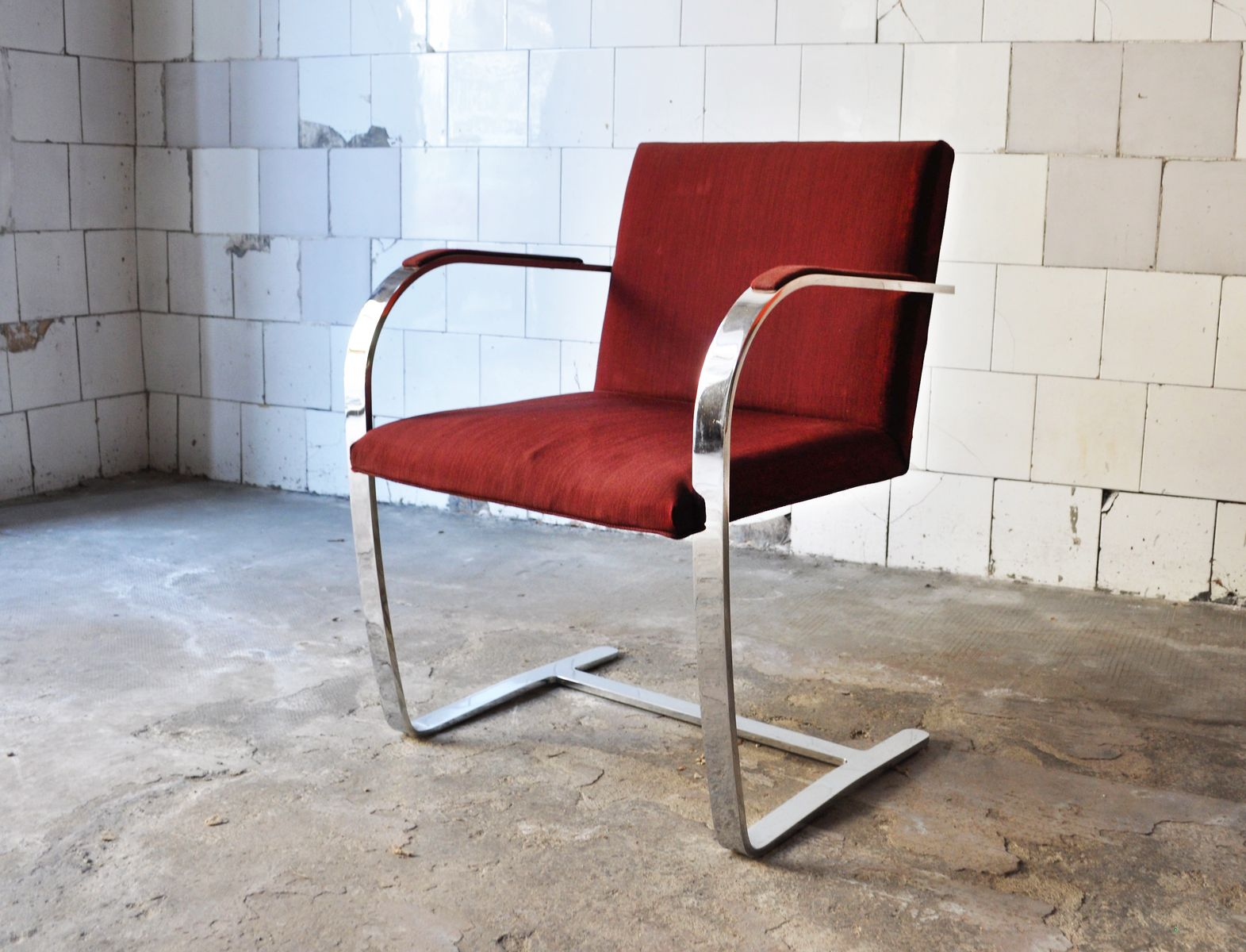Brno armchair by mies van der rohe for knoll 1980s for - Mies van der rohe sedia ...