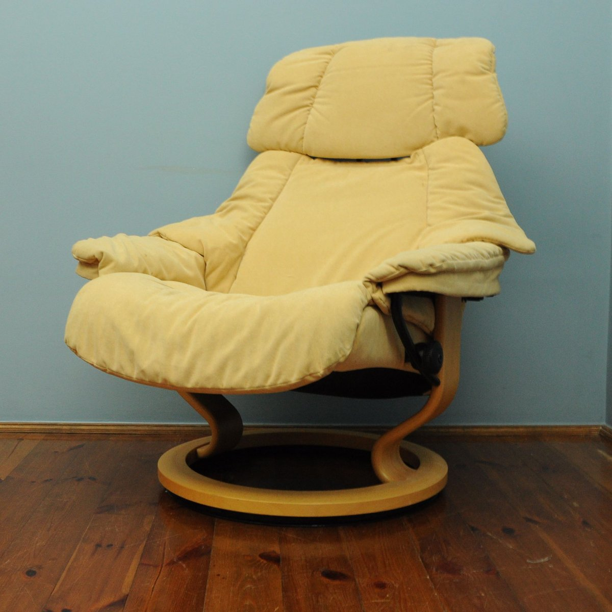 Vintage Yellow Lounge Chair from Stressless for sale at Pamono