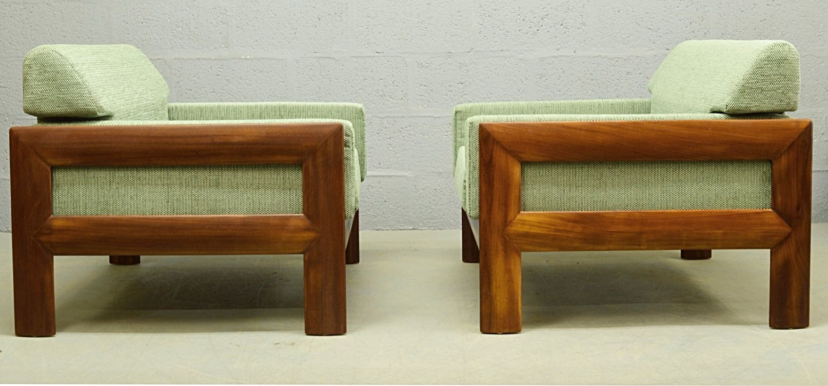 Mid century danish teak three piece living room suite for for Living room suites for sale